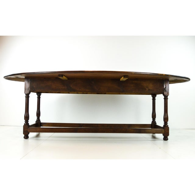 Antique Oval Drop Leaf Dining Table - Image 5 of 9