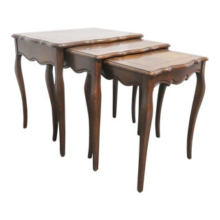 French Banded Nesting Tables - Set of 3 For Sale