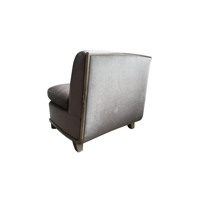 Mid 20th Century 1960s Silver Mohair Lounge Chair in the Style of James Mont For Sale - Image 5 of 13