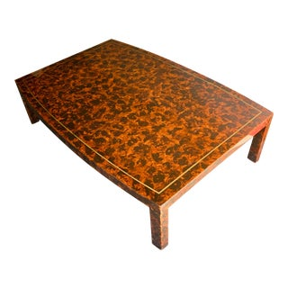 Vintage Hollywood Regency Tortoise Shell Cocktail Table For Sale