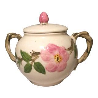 1940s Franciscan Desert Rose Sugar Bowl & Lid For Sale