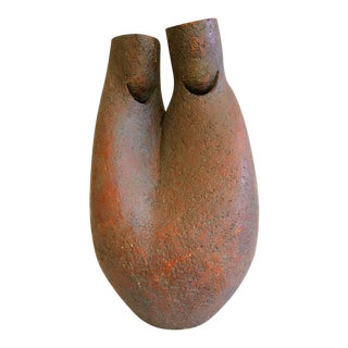 1970s Vintage Figurative Stoneware Sculpture by Donald Mavros For Sale