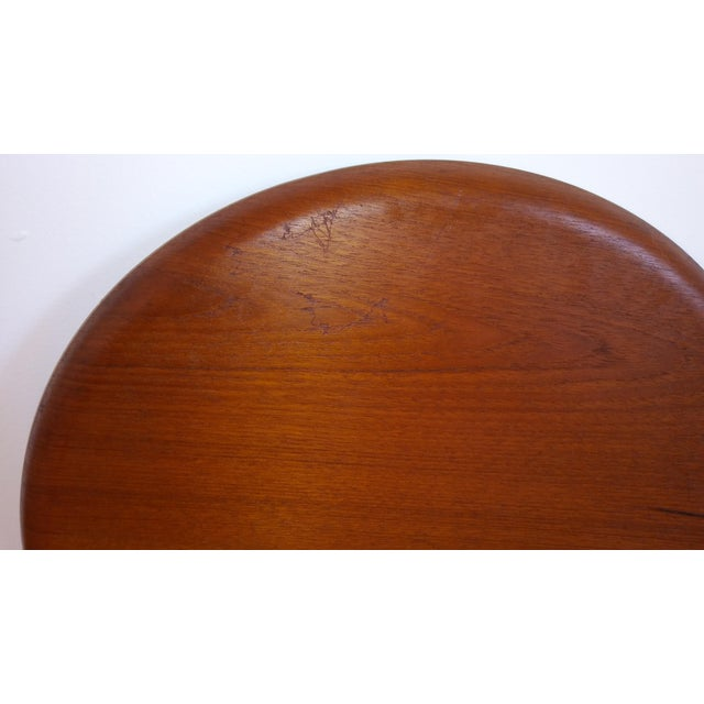 Brown Fritz Hansen Teak Tray Table For Sale - Image 8 of 11