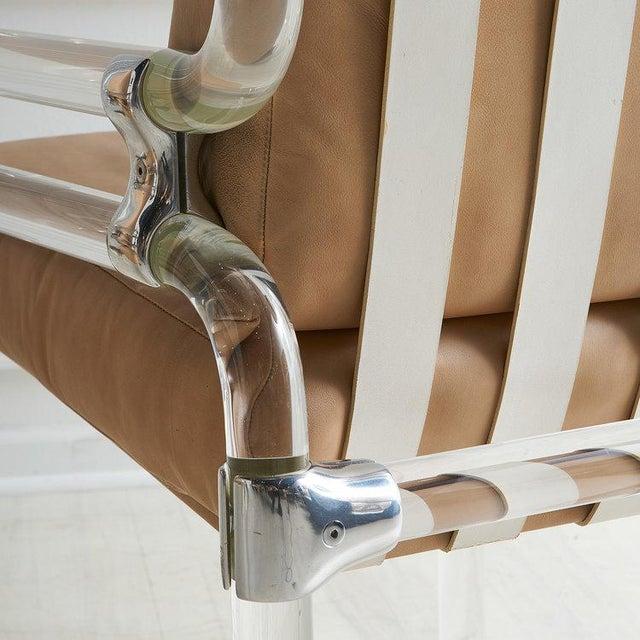 Tan Jeff Messerschmidt Pipeline Series II Chair in Leather For Sale - Image 8 of 12