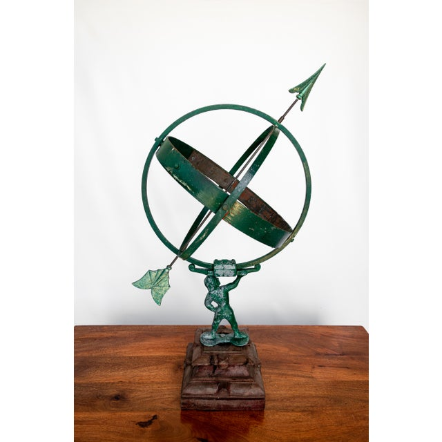 1930s 1940 the Archer Swedish Armillary/Sundial on Wood Base For Sale - Image 5 of 9