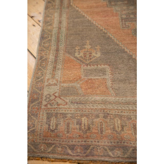 "Cotton Vintage Distressed Oushak Rug Runner - 3'9"" X 7'11"" For Sale - Image 7 of 11"