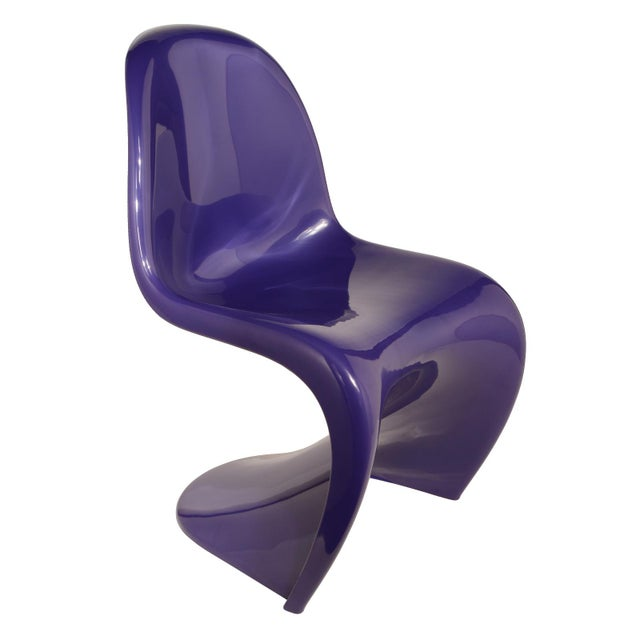 1976 Verner Panton S-Chair in Purple For Sale - Image 10 of 10