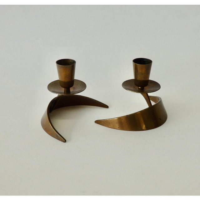 Metal Pair of John Prip and Ronald Hayes Pearson Ma.Co. Bronze n.y. For Sale - Image 7 of 7
