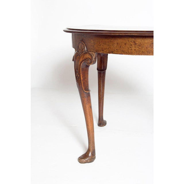 18th Century Irish George I Walnut Demi-Lune Table For Sale In Dallas - Image 6 of 13