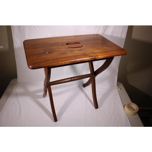 1980s Vintage Southwestern Wood Folding Table For Sale - Image 11 of 11