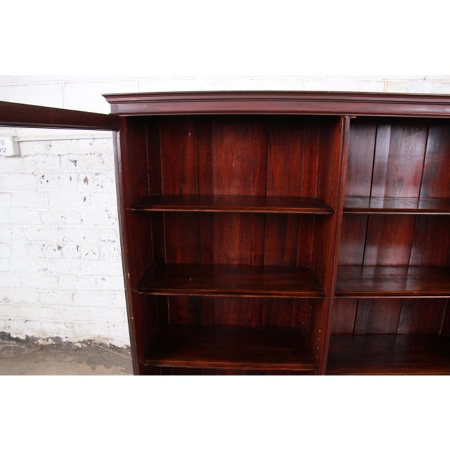 Antique Mahogany Glass Front Double Bookcase, Circa 1900 For Sale In South Bend - Image 6 of 12