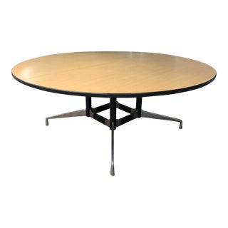 1970s Eames Office for Herman Miller 6 Ft Circular Conference/Dining Table For Sale
