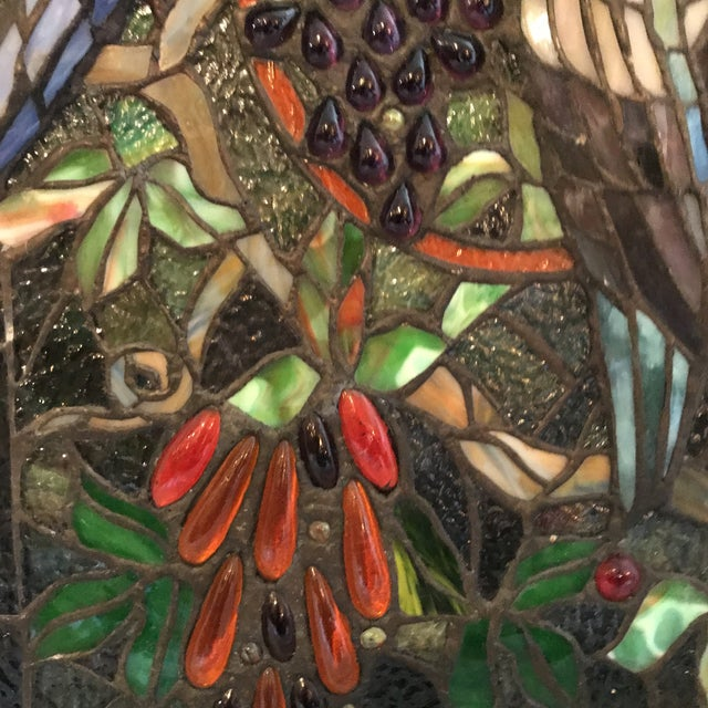 Tiffany Style Stained Glass Plaque - Image 6 of 7