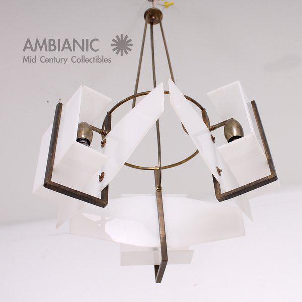 Italian Modernist Chandelier For Sale - Image 4 of 8