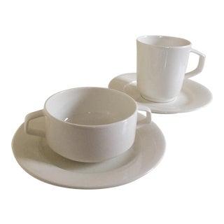 Villeroy & Boch Affinity White Premium Porcelain Mugs & Saucers - Set of 4