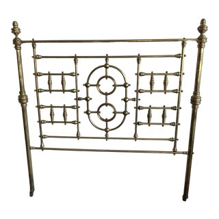 Antique Victorian Brass Full Size Headboard For Sale