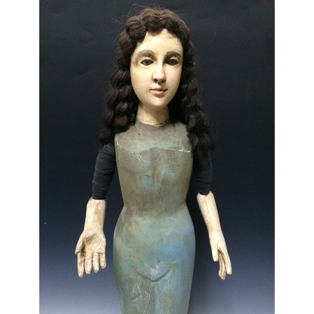 Handcarved Wood Articulated Female Mannequin For Sale In New York - Image 6 of 11