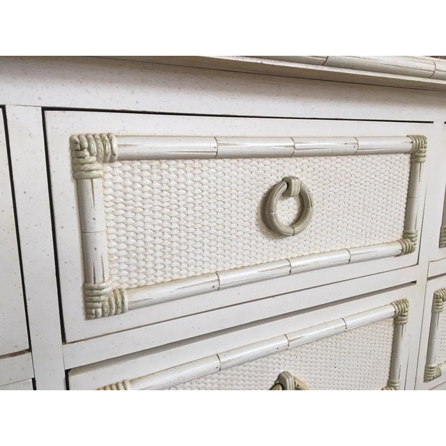 Thomasville Faux Bamboo Triple Dresser by Thomasville For Sale - Image 4 of 10