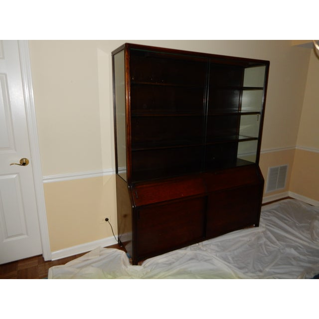 Mid-Century Glass Front China Display Cabinet - Image 2 of 11