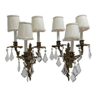 Vintage Chapman Brass French Regency Wall Sconces - a Pair