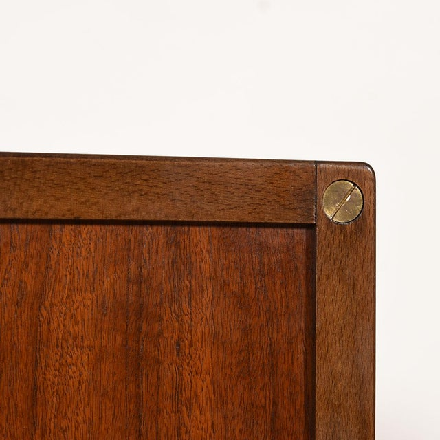Compact Mid-Century Swedish Modern Cabinet in Walnut by Dux For Sale - Image 12 of 13