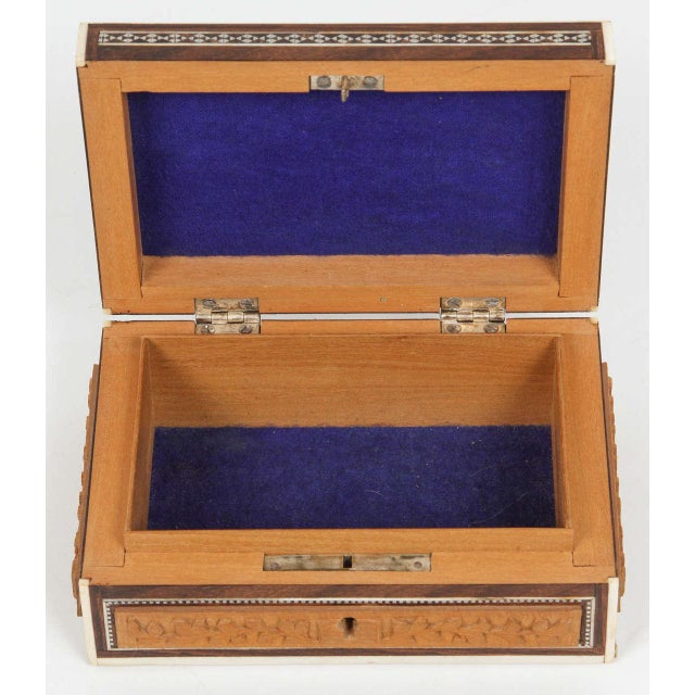Anglo-Indian Vizagapatam Jewelry Inlaid Box For Sale - Image 4 of 5