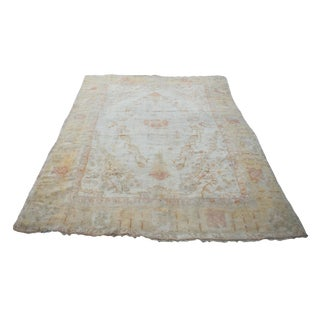 Antique Turkish Oushak Rug - 10′4″ × 13′8″ For Sale