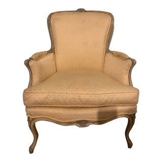 19th Century Louis XV Style French Painted Bergere For Sale