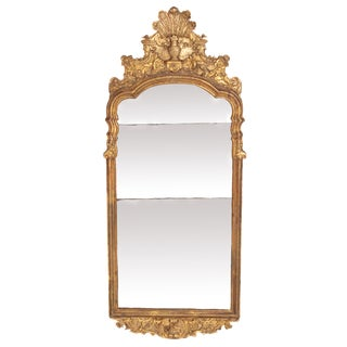 Large Queen Anne Gilt-Gesso Mirror, Circa 1710 For Sale