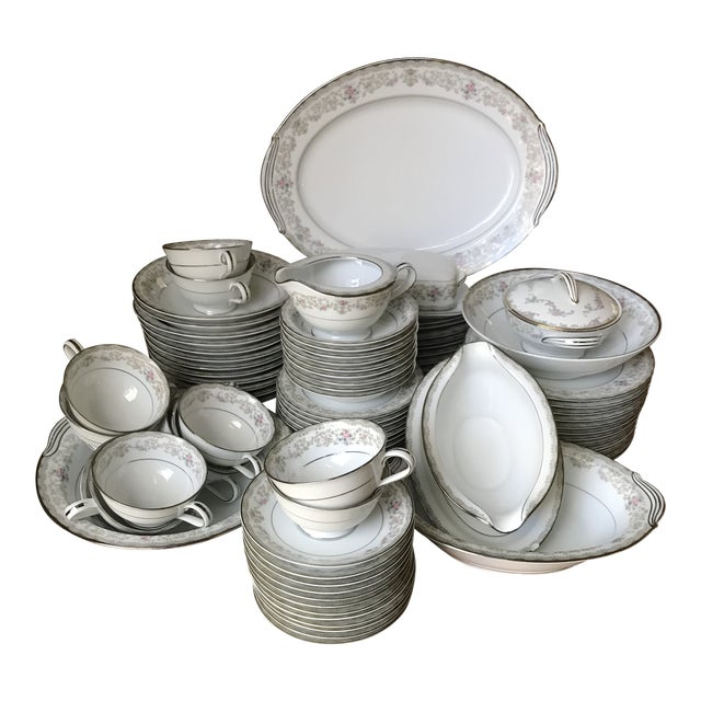 Vintage Noritake # 5807 Edgewood Service for 12 Dinnerware - 94 Pieces,reduced Final For Sale