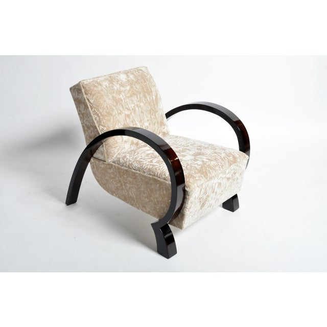 Hungarian Solid Walnut Armchairs - a Pair For Sale - Image 9 of 13