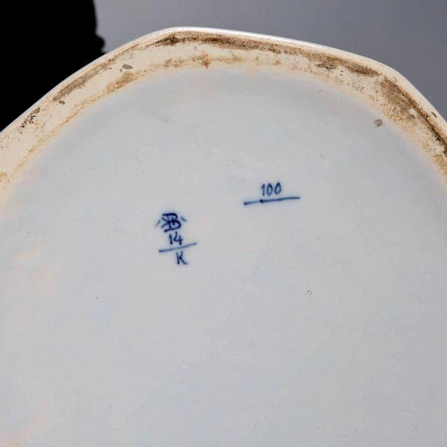 Large Blue and White Chinese Ginger Jar or Dutch Vase with Lid For Sale - Image 9 of 9