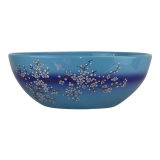 Pasargad DC Modern Navy Blue Motif Sink Bowl For Sale