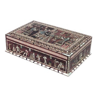 Victorian Egyptian Revival Inlaid Rosewood Box For Sale