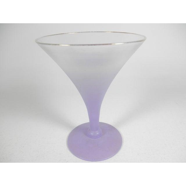 Lavender Martini Pitcher & Glasses - Set of 5 - Image 4 of 5