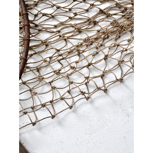 Brown Antique Pole Fishing Net For Sale - Image 8 of 9