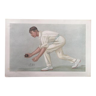 "Original 1902 Vanity Fair ""The Lobster"" Cricket Print"