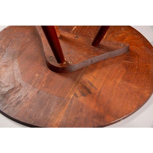 1950s George Nakashima Splayed Leg Round Side Table For Sale - Image 5 of 10