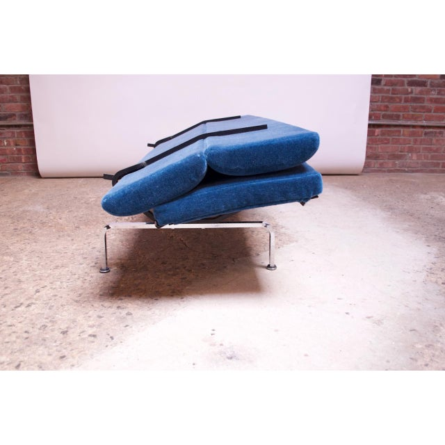 Charles and Ray Eames for Herman Miller Chromed-Steel and Mohair Compact Sofa For Sale - Image 10 of 13