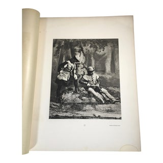 """1892 Antique Characters From Shakespeare's """"As You Like It"""" Photogravure Print For Sale"""