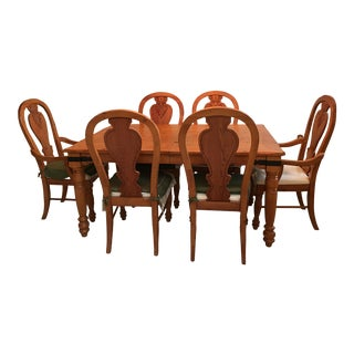 Thomasville Cambridge Dining Table & Chairs For Sale