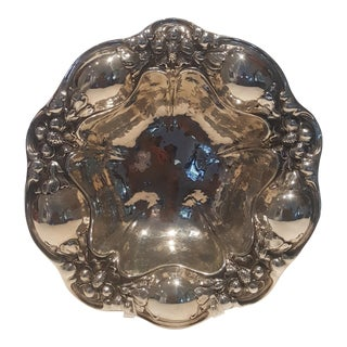 1853 Gorham Sterling Silver Decorative Bowl With Floral Motif For Sale