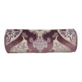 Designers Guild Bolster Pillow - Lilac, Mauve, Beige For Sale