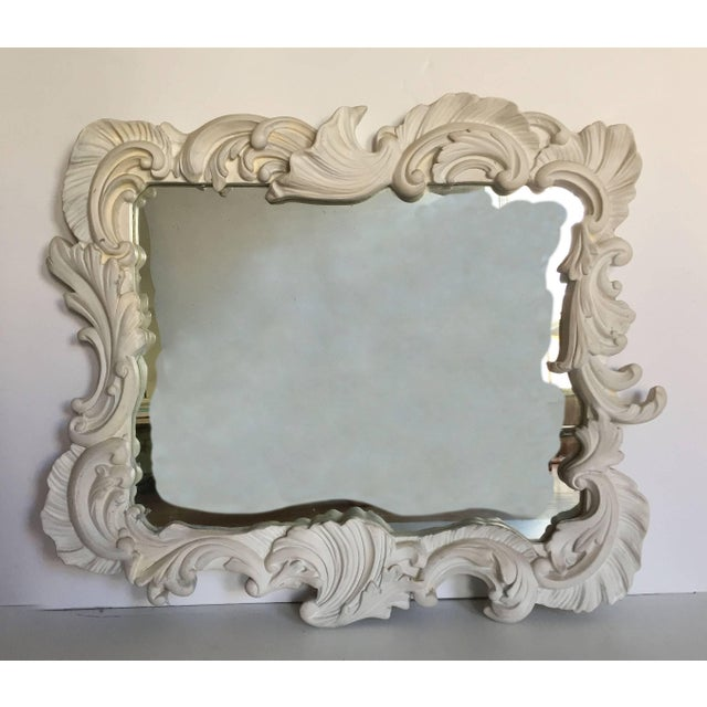 Dated 1951 on the mirror on the reverse. A period exuberant large plaster form. Style of Serge Roche and Dorothy Draper....