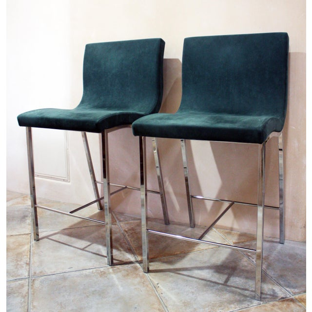 Modern Ligne Roset Counter Stools - a Pair For Sale - Image 10 of 10