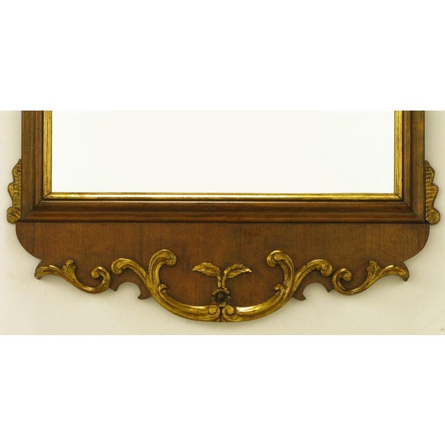 "58"" Carved Walnut Parcel Gilt Italianate Mirror. For Sale In Chicago - Image 6 of 7"