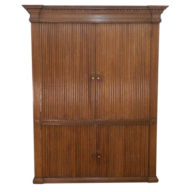 18th Century French Tambour Cabinet For Sale