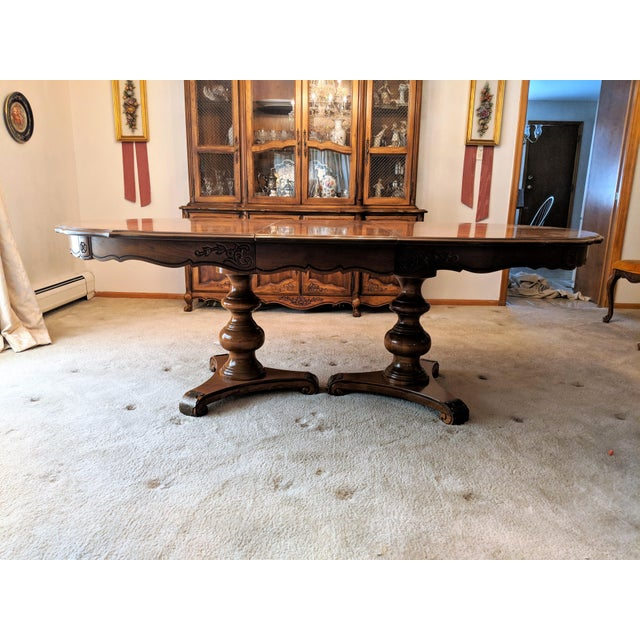 Traditional 1970s Traditional Hibriten Dining Room Set For Sale - Image 3 of 9