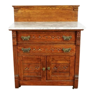 Antique Marble Top Dry Sink For Sale