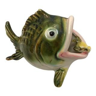 1970s Pottery Salt Pig Fish For Sale